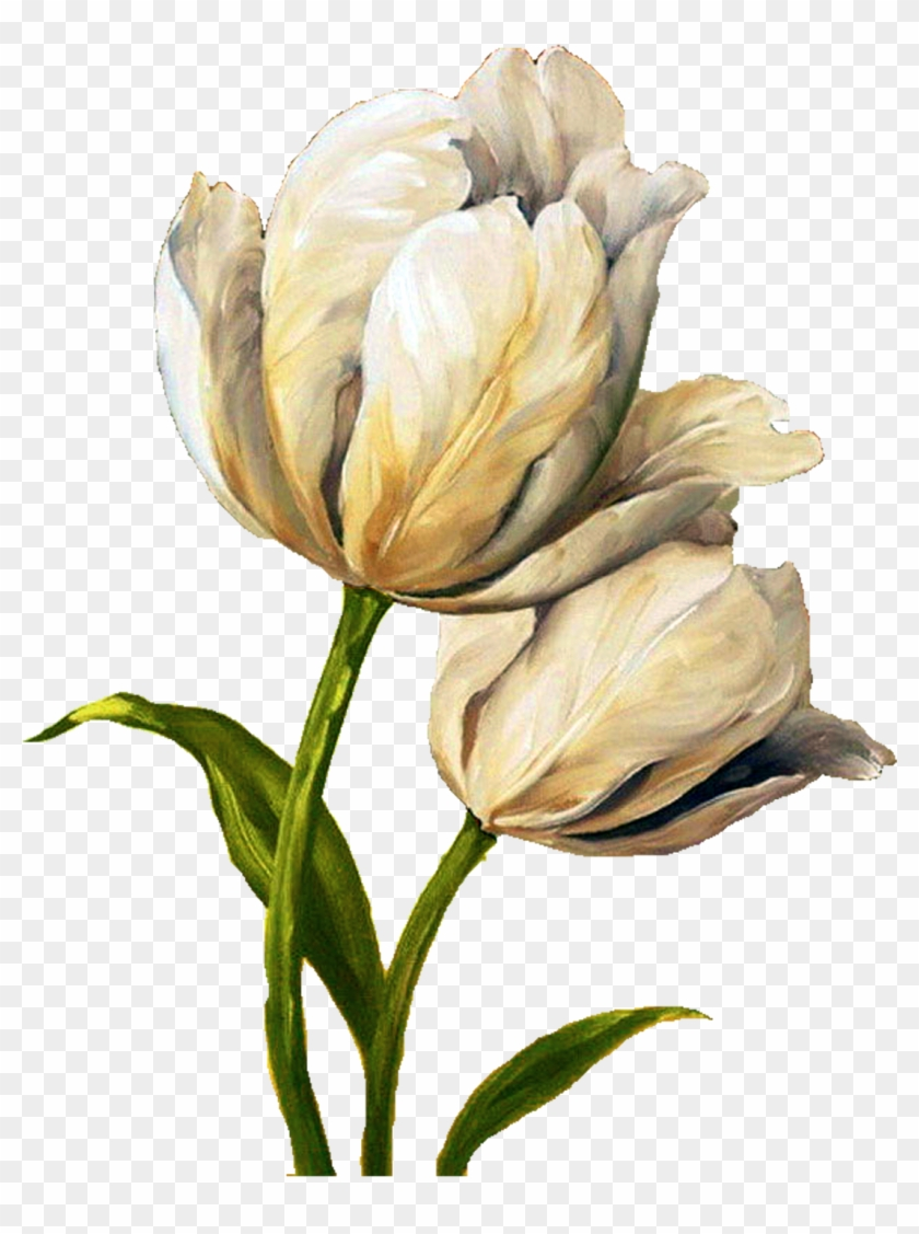 Decoupage Flower Flower Painting Flower Painting Tulip Waltz Iii