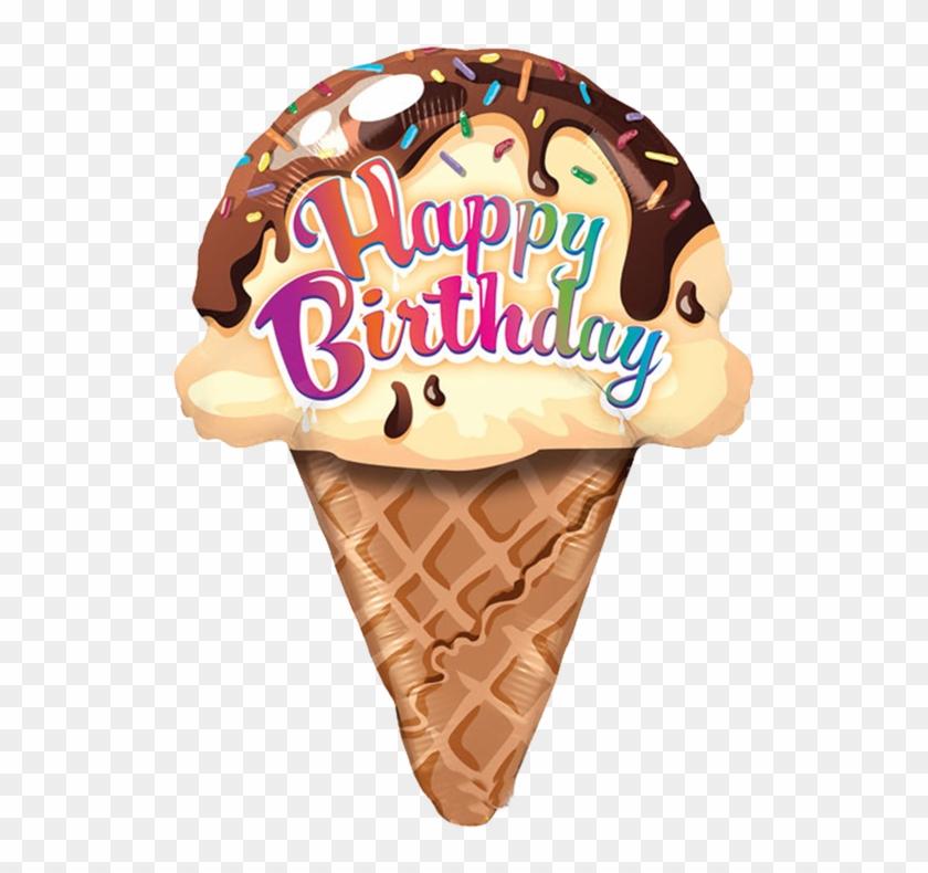Free Ice Cream Clipart - Happy Birthday With Ice Cream #324320