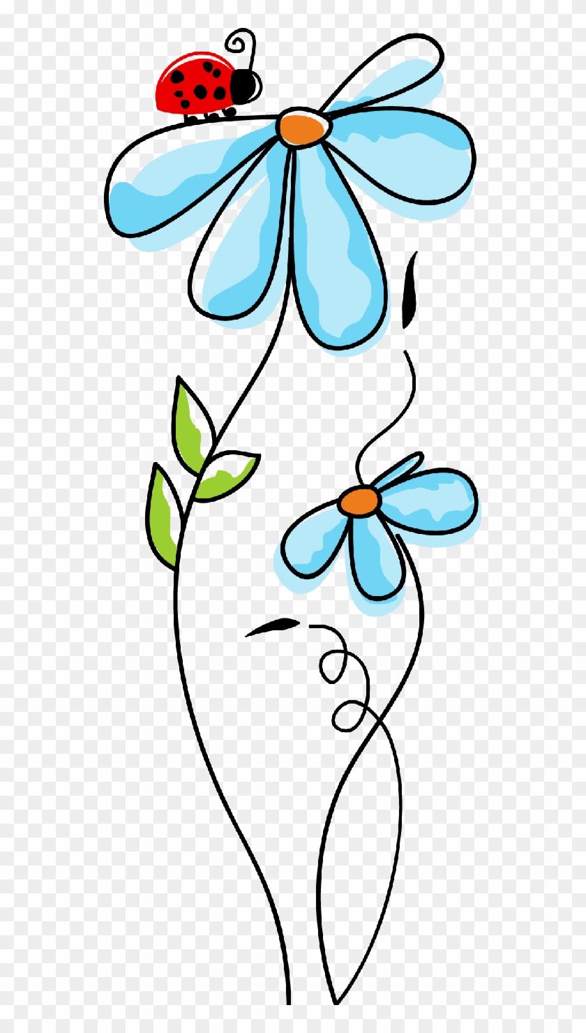 Flores Ilustraciones En Png Para Artesanía Y Diseños - Dibujos Bonitos De Flores A Color #324388