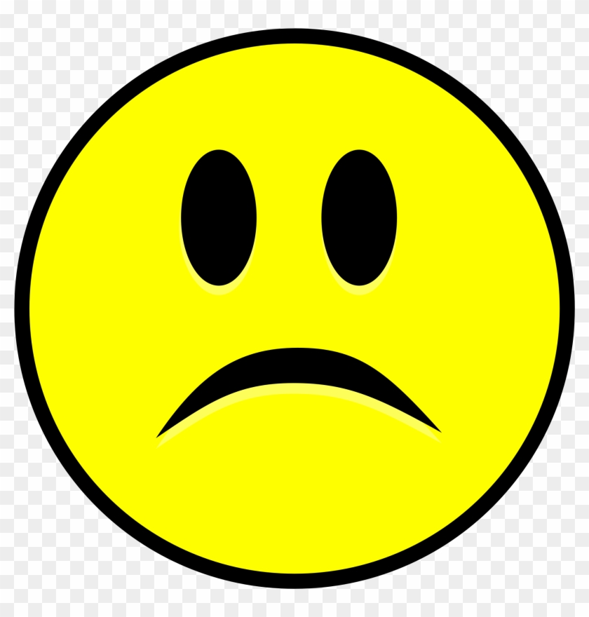 Sad Smiley Simple Yellow - Sad Smiley Png #324405