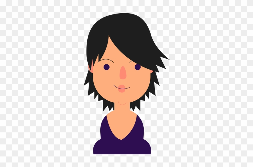 Black Hair Clipart Short Hair - Short Black Hair Cartoon #324534