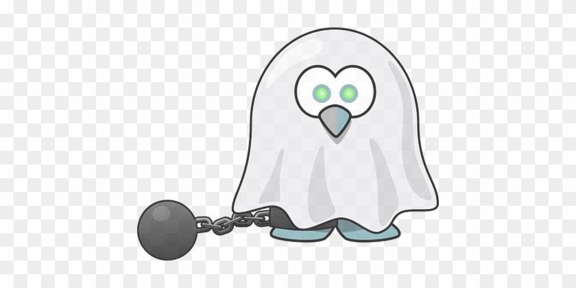 Tux Animal Bird Chain Dead Fear Ghost Hall - Tux Halloween #324627