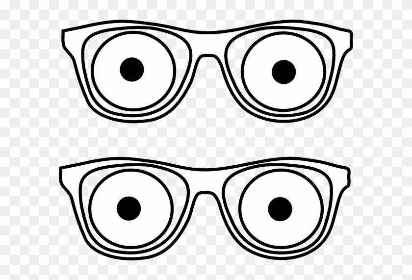 Outline Glassees Eyes Clip Art At Clker - Glasses With Eyes Clipart #324675
