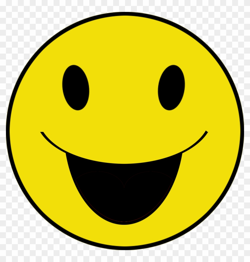 Smiley Png - Happy Face With Open Mouth #325119