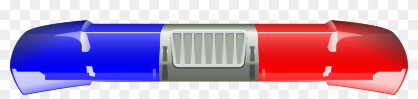Light Blue Clipart Cop Light - Police Car Clip Art #325444