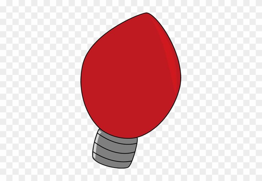 Lights Clipart Simple - Christmas Light Bulb Transparent Background #325455