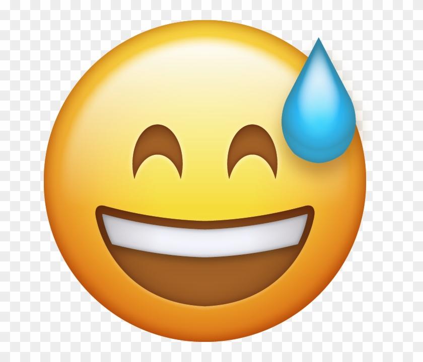 Sweating Emoji Cliparts - Happy Emoji Transparent Background #325546