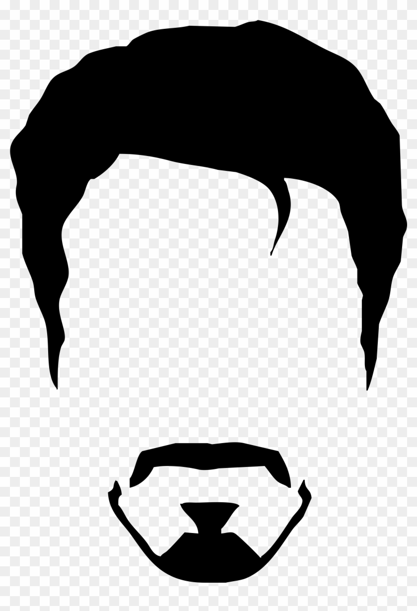 Image Result For Tony Stark Minimalist Wallpaper Black Man Hair Vector Png Free Transparent Png Clipart Images Download