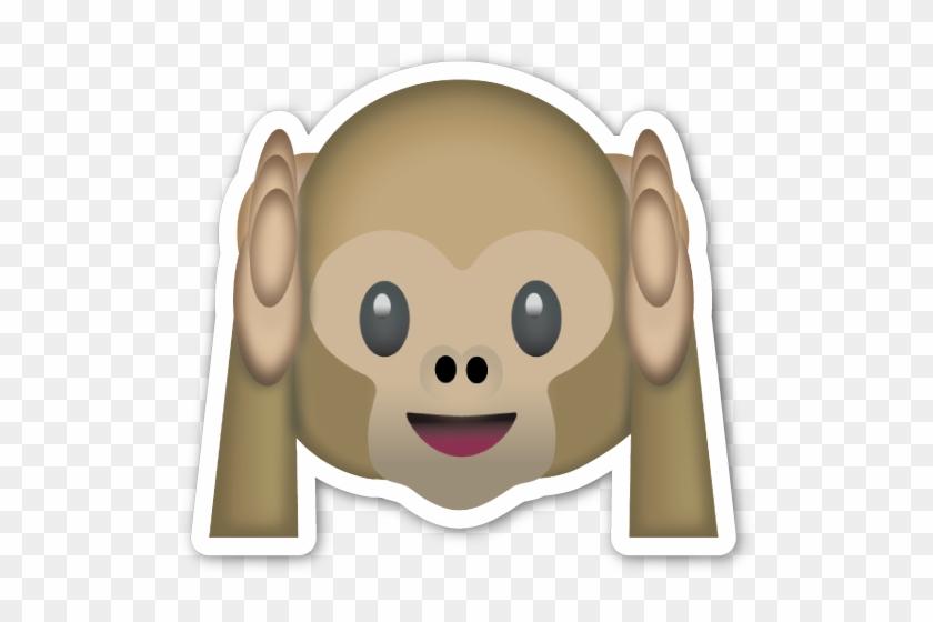 Hear No Evil Monkey Monkey Covering Ears Emoji Free Transparent Custom Monkey Covering Eyes Emoji Pillow