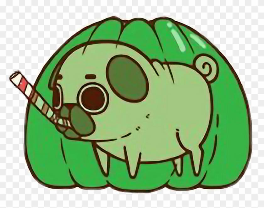 Cute Kawaii Pug Chibi Food Jellyfreetoedit - Puglie Pug #325897