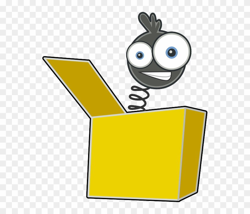 Cartoon Jack In The Box, Toy, Jack, Joker, Clown, Face, - Jack In The Box Clipart #326080