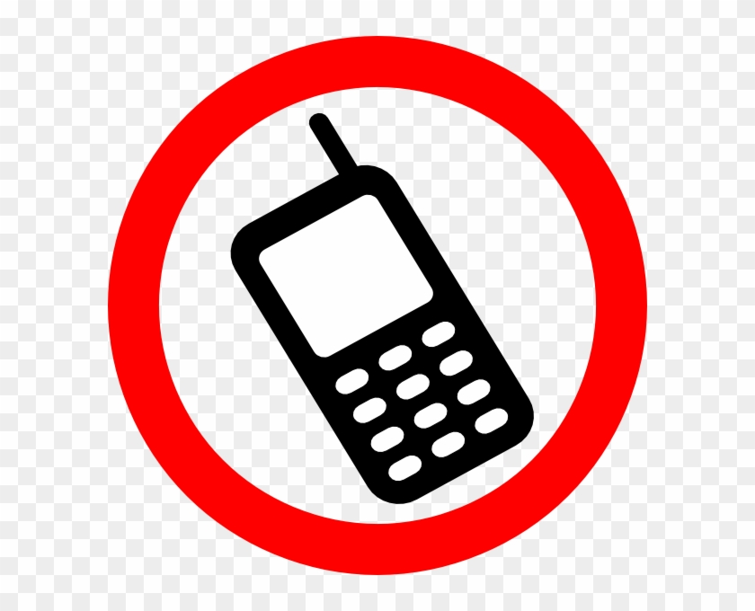 Cell Clip Art - No Cell Phone Safety Sign #326082
