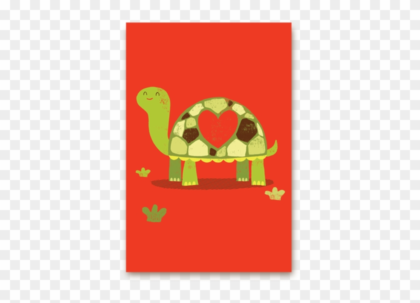 Tortoise Love Postcard - Lagom Designs Slow Love Valentine's Day Card #326219