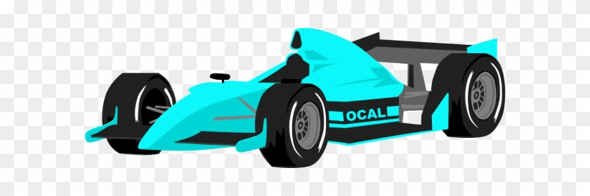 Racing Clipart Formula 1 - Blue Race Car Clip Art #326602