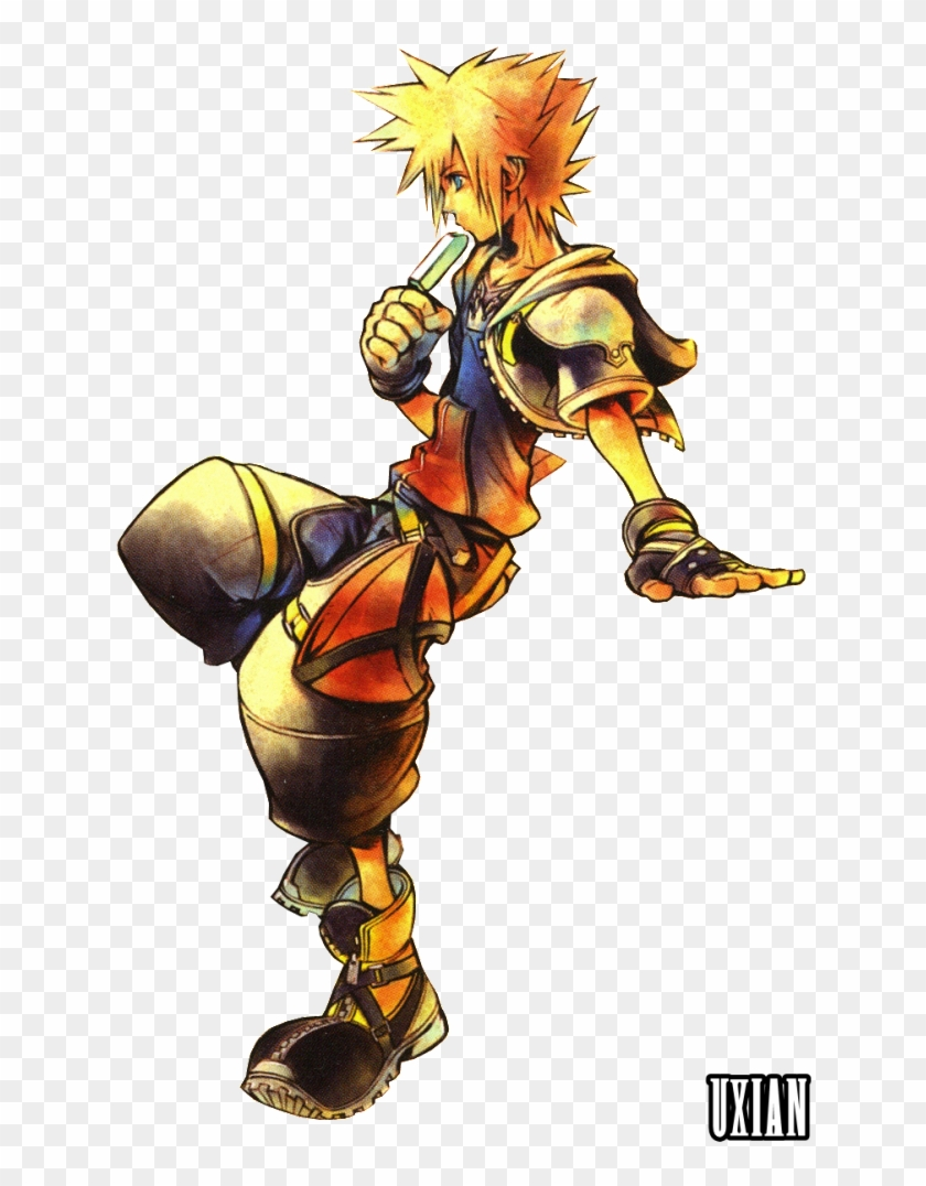 In Which Sora Struggles With Controlling His Heartless - Kingdom Hearts 2 Official Art #326931