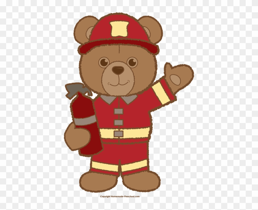 Teddy Bear Clipart Bears Logos Clip Art Bear Clip Art - Firefighter Bear Cartoon #326943