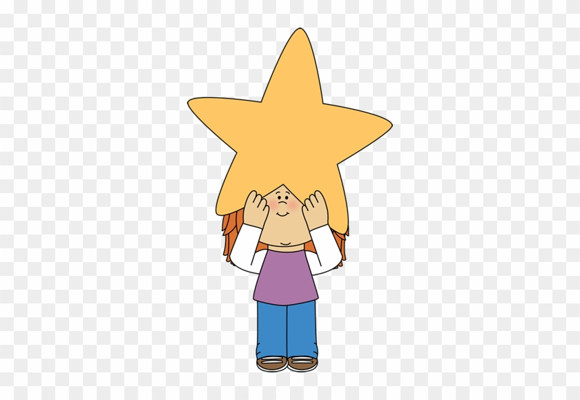 Girl Holding A Star Above Her Head - My Cute Graphics Star #327047