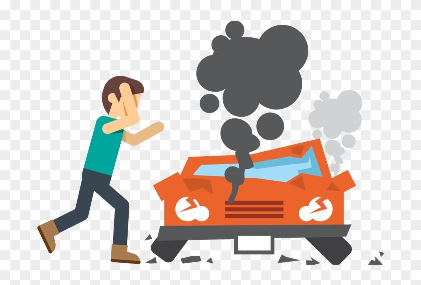 Car Crash Because Drugs Clipart - Car Crash Cartoon Png #327150