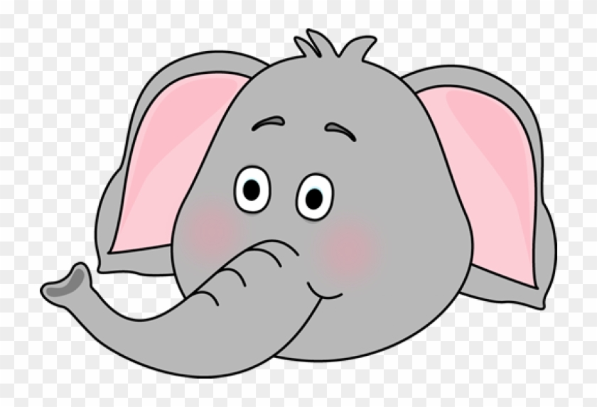 Elephant Clipart Face Outline - Trunk Of Elephant Clipart #327165