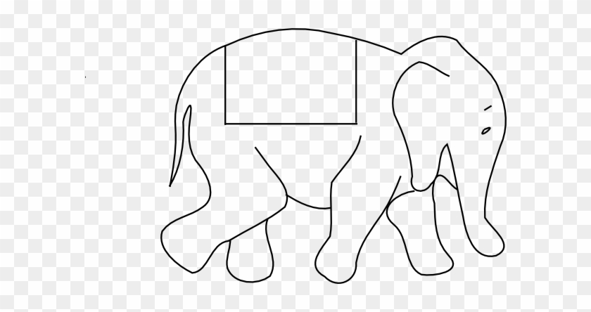 Indian Elephant Cartoon Drawing - Outline Pictures Of Animals #327190