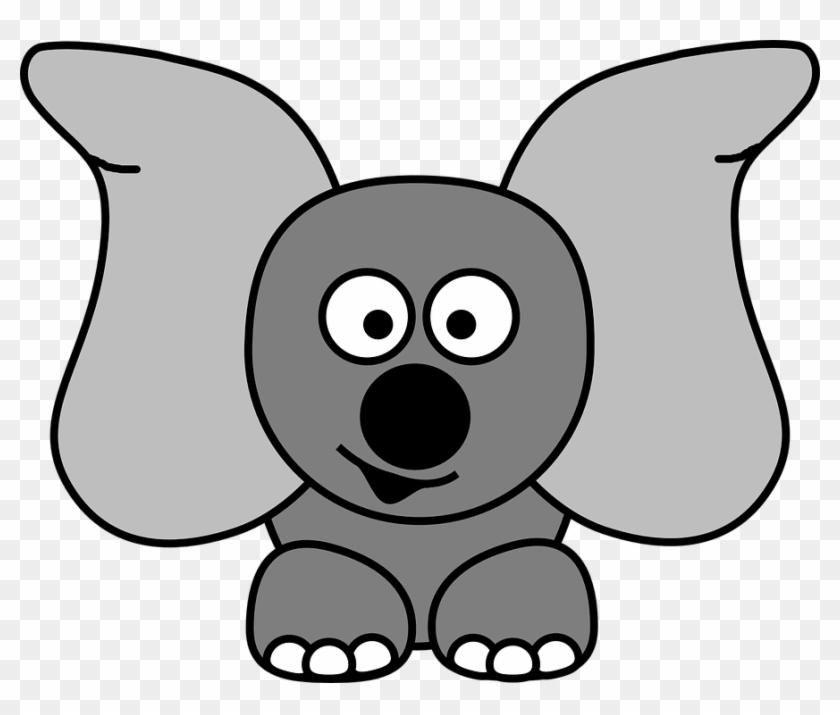 Cartoon Elephant Face - Grey Elephant Finger Puppet #327255