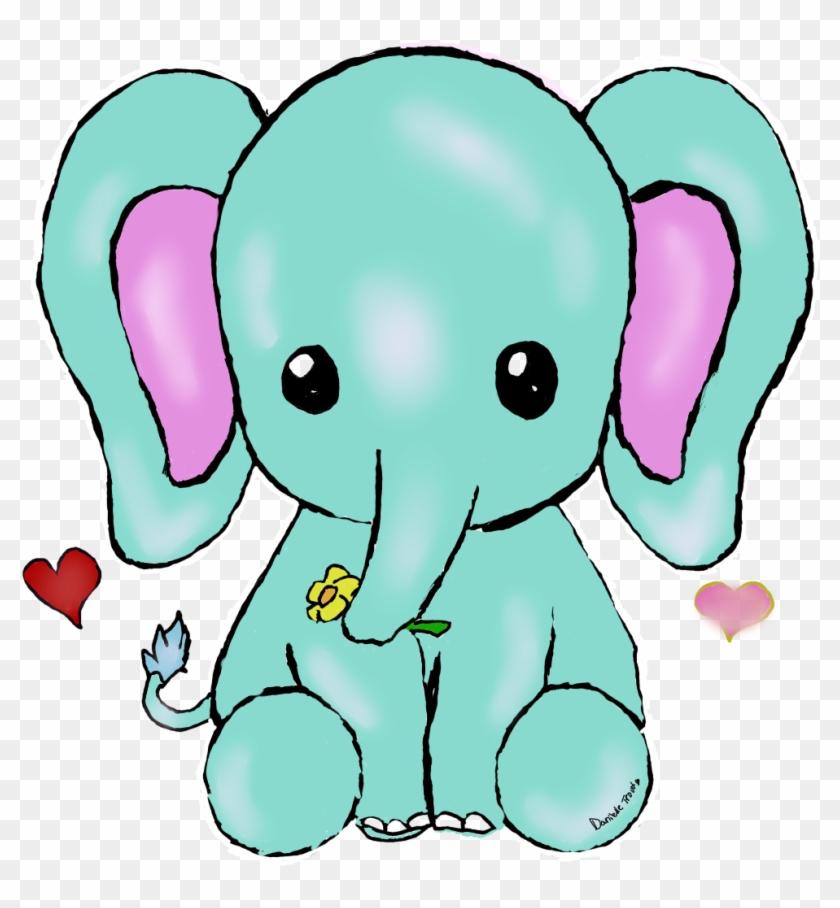 Kawaii Elephant By Uniquecomedy Kawaii Elephant By - Kawaii Elephant Png #327371
