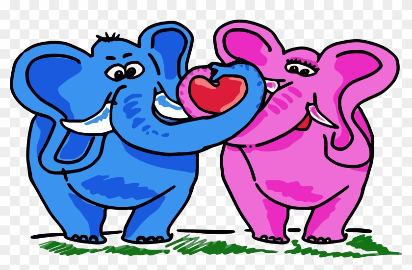 2018 Messages Sticker-11 - Elephant Love Clipart #327399