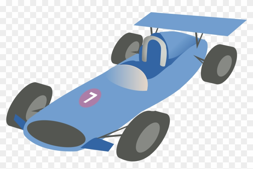 F1 Car - Blue Vintage Race Car Clipart #327617