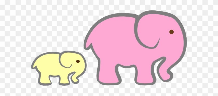 Pink Elephant Cut Out #327635