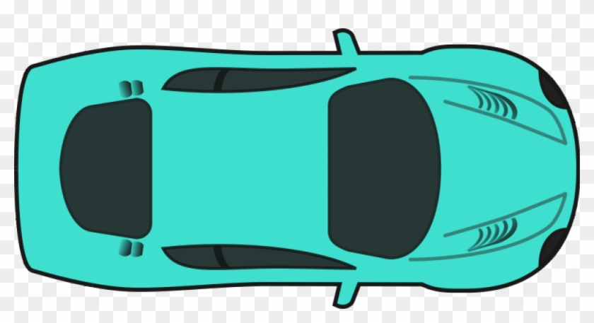 Turquoise Racing Car Vector Drawing Car Top View Clipart Free