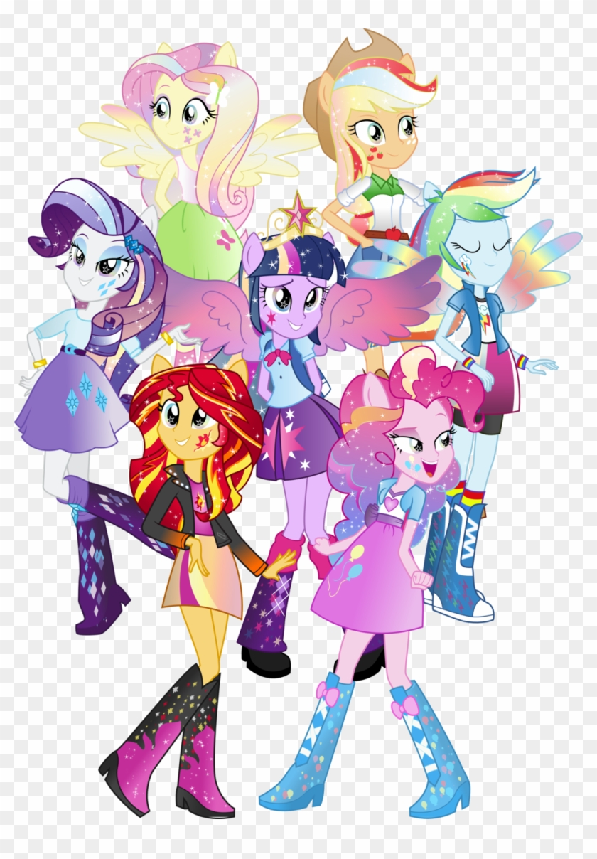 Through The Mirror By Theshadowstone Spoilers Eqg My Little Pony Manusia Free Transparent Png Clipart Images Download
