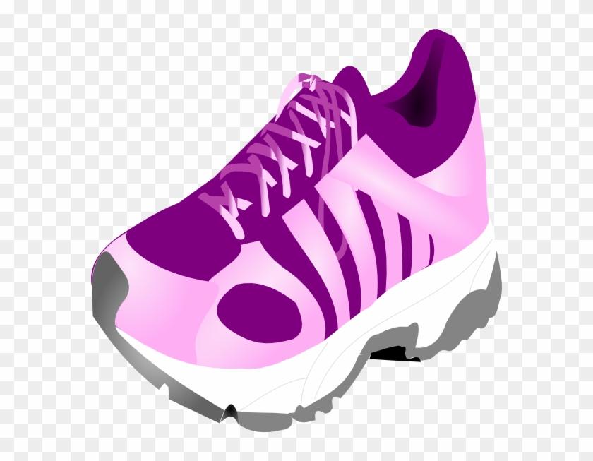 Tennis Shoe Clipart - Girl Running Shoes Clipart #328206