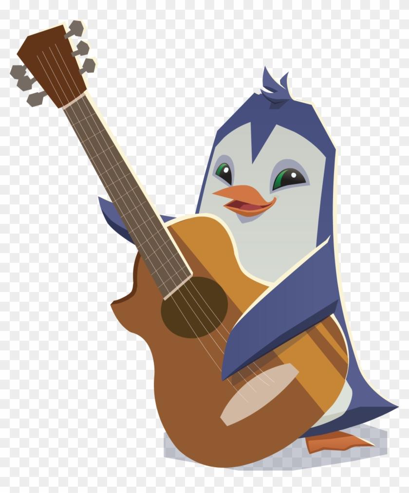 Penguin With Guitar - Animal Jam Penguin Png #328351
