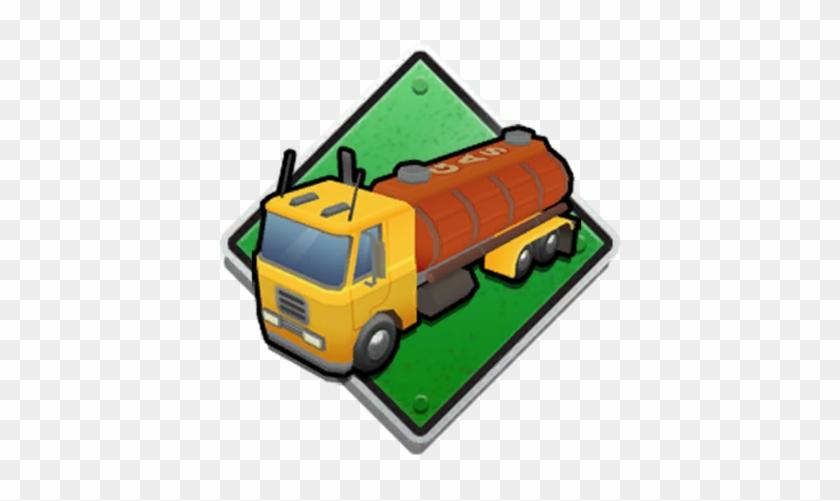 Gas Tanker - Cartoon Pizza Food Truck #328405