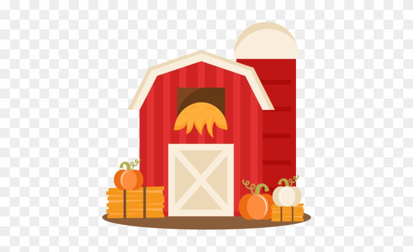 Miss Kate Cuttables Svg Scrapbook Cut File Cute Clipart - Fall Barn Clipart #328696