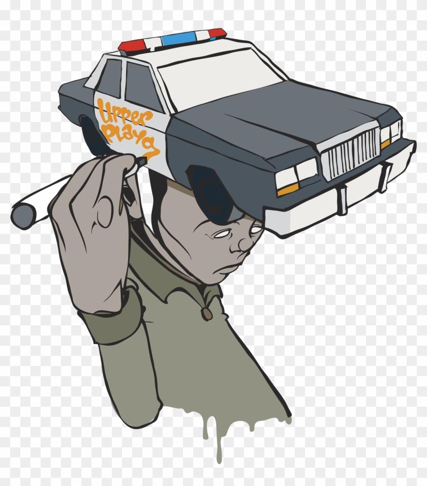 5s - Police - Black - Graphic - Art - Police Car #328739