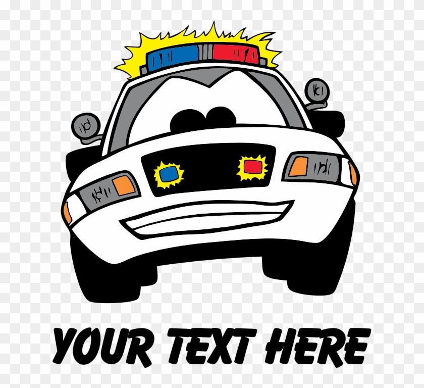 Favorite - Cartoon Police Car Shower Curtain #328777