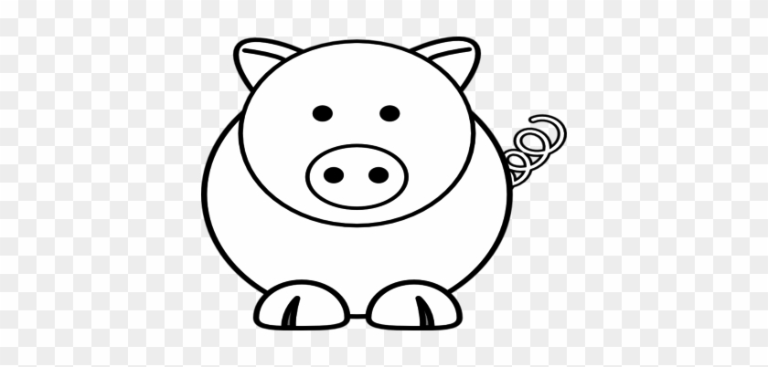 Cartoon Coloring Thumbnail Size Cartoon Sheep Pig Clip - Easy Coloring Pages Of Animals #329126