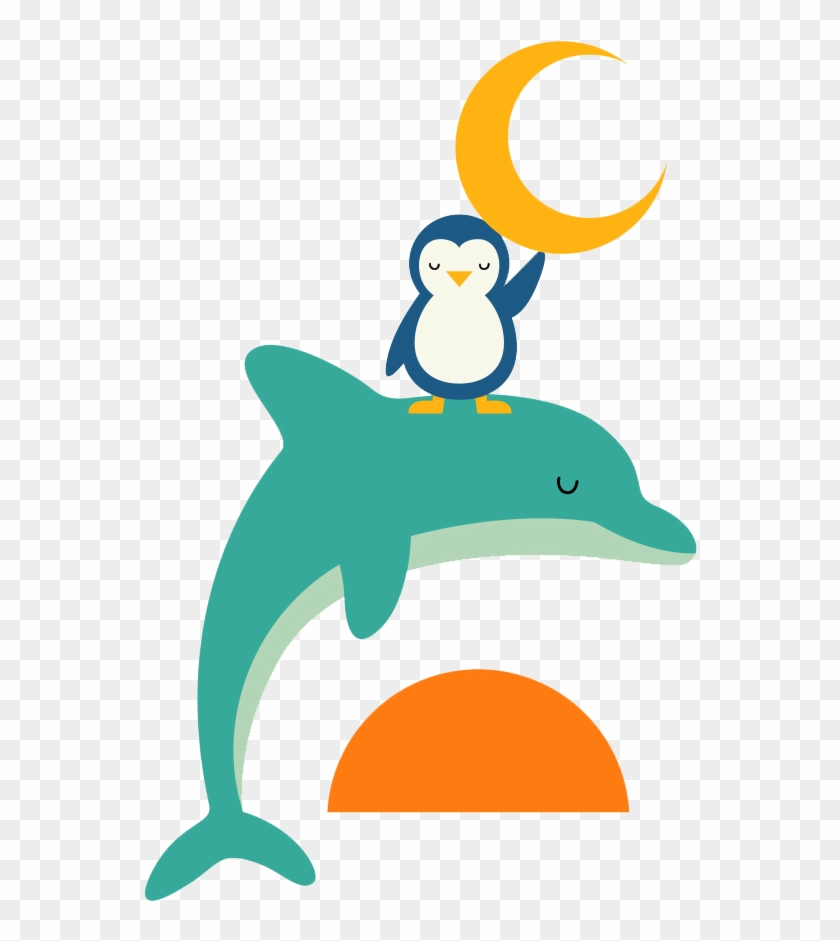 Painting Drawing Poster Illustrator Illustration - Dolphin And Penguin #329160