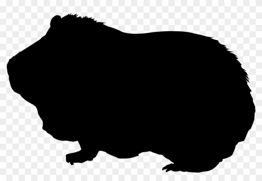 Pig Silhouette Png - Guinea Pig Silhouette #329390