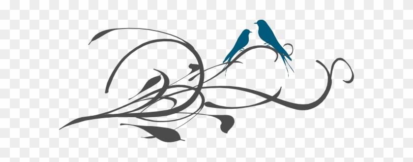 Love Birds On A Branch Clip Art - Love Bird Silhouette Branch #329398