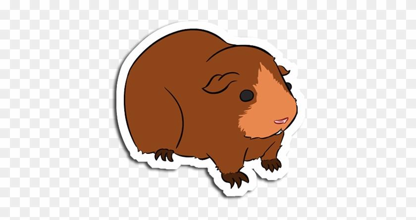 Drawn Guinea Pig Cartoon - Guinea Pig Brown Cartoon #329402
