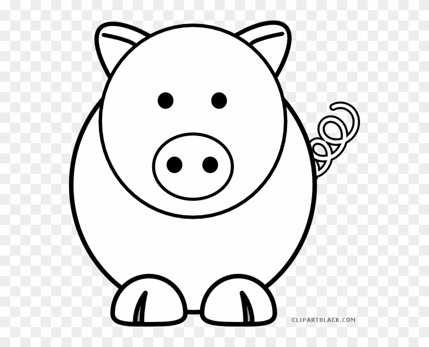 Pig Outline Animal Free Black White Clipart Images - Edmond Memorial High School #329599