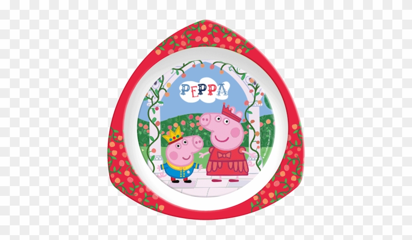 82121 Peppa Pig Triangle Plate - Peppa Pig 'once Upon A Time' Dinner Set #329623