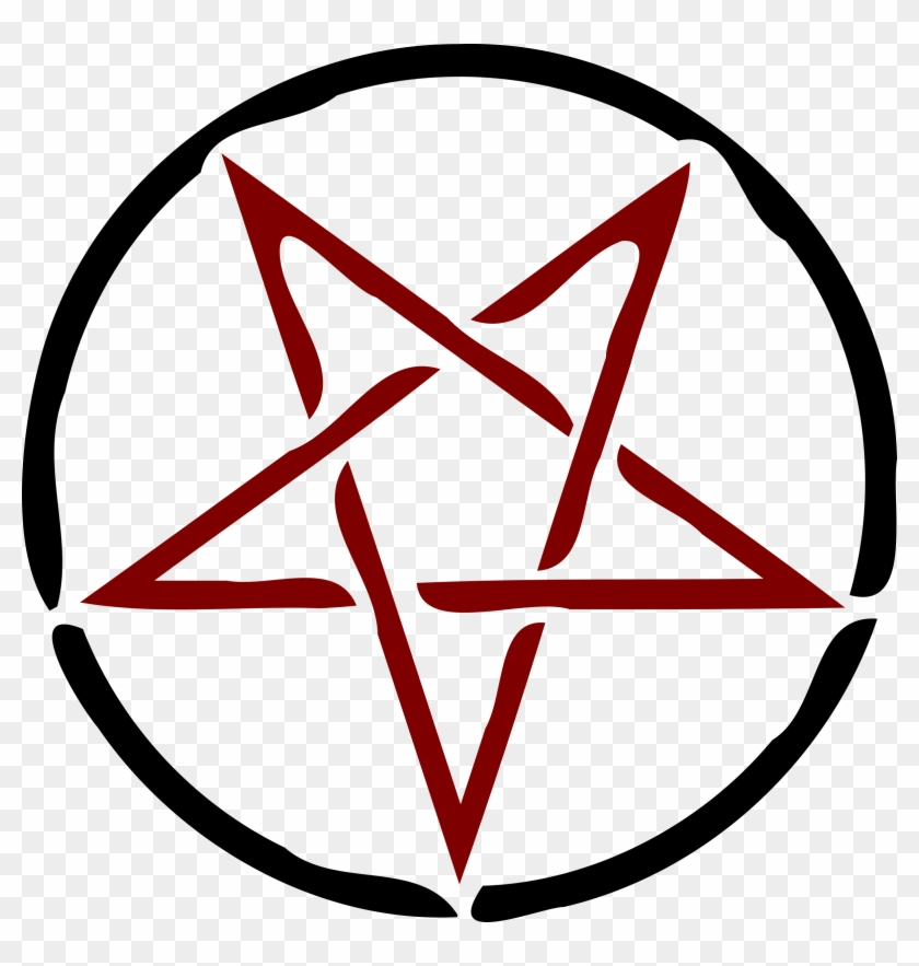 Clipart Star Pentagram 5 Pencil And In Color Circle With Star