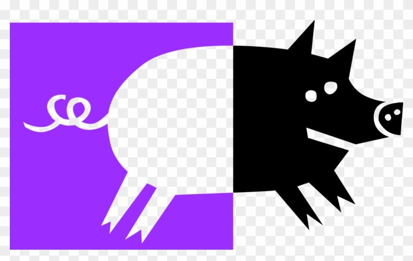 Vector Illustration Of Pig In Pigsty Or Pigpen - Better Than Bacon Improv #329820