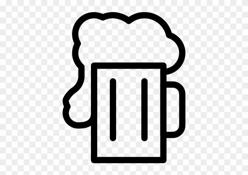 Beer Bottle Clip Art Black And White Download - Beer Mug Outline Png #330345