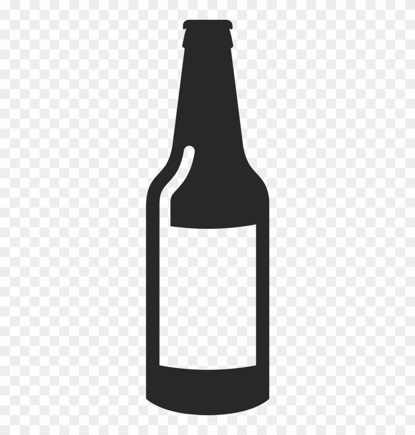 Blank Beer Bottle Rubber Stamp - Blank Beer Bottle Outline #330576