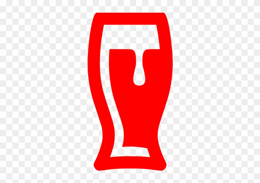 Red Beer Glass Icon - Beer Glass Icon Png #330629