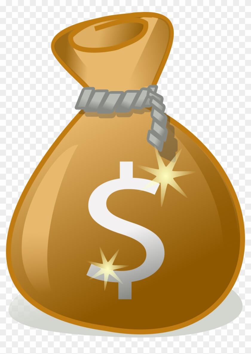 public domain clip art image money bag transparent